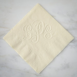 Embossed Monogram Guest Towels