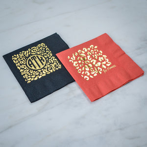 Personalized Cheetah Print Napkins