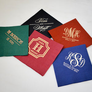 Colorful Custom Printed Napkins