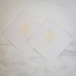 Custom Diamond Monogram Napkins