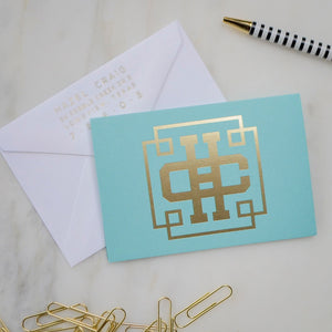Name & Initials Notecards - Set of 50