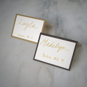 Classic Border Place Cards - Set of 12