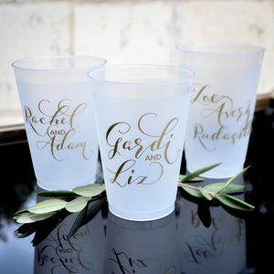 Custom Couple's Name Shatterproof Cups