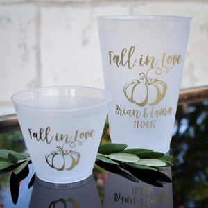 Personalized Shatterproof Fall Wedding Cups