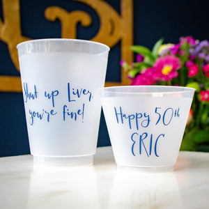Custom 50th Birthday Frosted Cups Party Favors