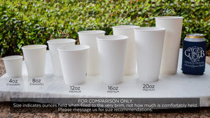 Custom Branch Wreath Printed Paper Cups