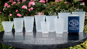 Shatterproof Wedding Cups with Names