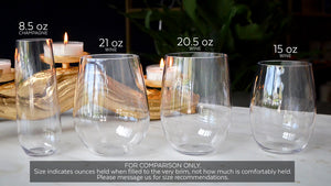Anchor Monogram Stemless Champagne Flutes & Wine Glasses