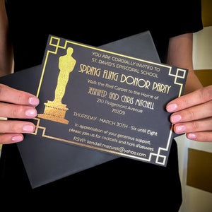 Elegant Gold Foil Event Invitations