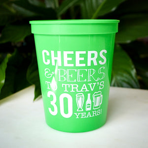 Cheers & Beers Stadium Cups