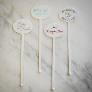 Personalized Printed Party Stir Sticks