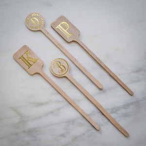 Personalized Wooden Stir Sticks
