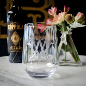 Personalized Clarus Stemless Wine Glasses