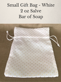 Small Gift Bag White - Salve & Soap