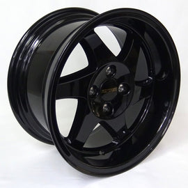 RYVER SAWBLADES 15X8 +20 4X100 GLOSS BLACK Rim / Wheel