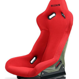 SEIBON - UNIVERSAL CARBON KEVLAR BUCKET RACING SEAT - RED