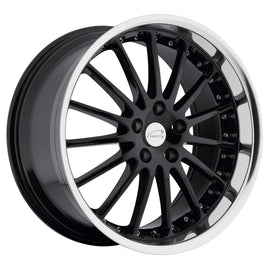 COVENTRY WHITLEY 20x8.5 5/120.65 ET20 CB73.9 GLOSS BLACK W/MIRROR CUT LIP