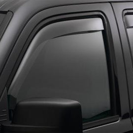 WEATHERTECH FRONT SIDE WINDOW DEFLECTORS FOR 03 AUDI S6 AVANT LIGHT SMOKE 70007