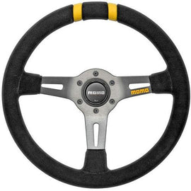MOMO MOD DRIFT STEERING WHEEL 330MM BLACK SUEDE UNIVERSAL