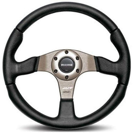 MOMO RACE STEERING WHEEL BLACK/ANTHRACITE 320MM UNIVERSAL
