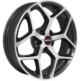 RACE STAR 95 RECLUSE 18X5 5X4.75 -6.4 CB3.07 METALIC GRAY W/MACHINED FACE 1 RIM