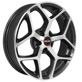 RACE STAR 95 RECLUSE 17X7 5X115 +6.4 CB3.07 METALIC GRAY W/MACHINED FACE 1 RIM