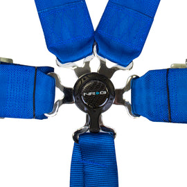 NRG 6 Pt 3inch Seat Belt Harness / Cam Lock- Blue