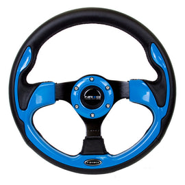 NRG 320mm Sport Steering Wheel w/ Blue Trim
