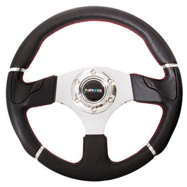 NRG 320mm Sport Leather Steering Wheel with trim
