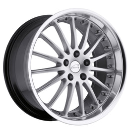 COVENTRY WHITLEY 20x8.5 5/108 ET35 CB63.4 HYPER SILVER W/MIRROR CUT LIP