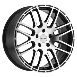PETROL P6A 19x8.0 5/120 ET35 CB76.1 GLOSS BLACK W/MACHINE FACE