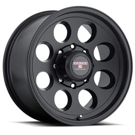 LEVEL 8 TRACKER 17x8.5 8/165.1 ET-06 CB130.8 MATTE BLACK
