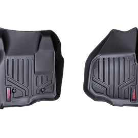 Rough Country Heavy Duty Floor Mats - Front Set (Depressed Pedal)