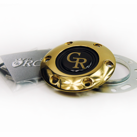 GRIP ROYAL STEERING WHEEL HORN KIT GOLD GR BUTTON WITH GOLD RING