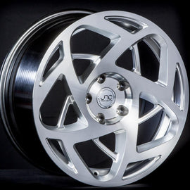 JNC 047 HYPER SILVER MACHINE FACE 17x8.5 5x112 +30 WHEEL/RIM