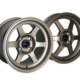 Traklite Launch Drag Racing Wheels 15x3.5 4x100 +10 (PAIR) Bronze