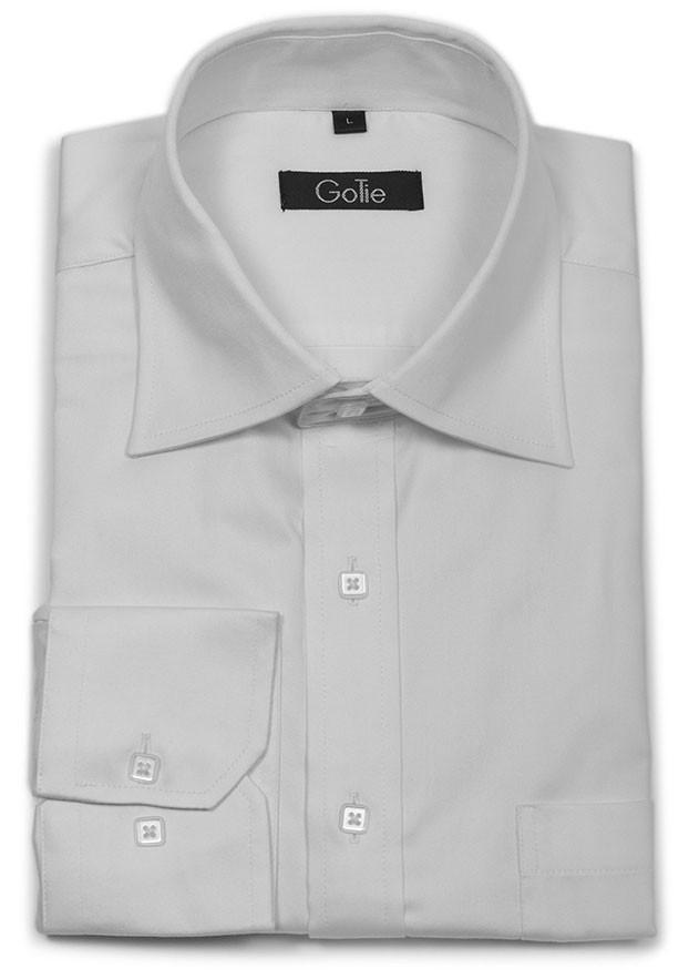 Arctic White Dress Shirt-M, Shirt, GoTie