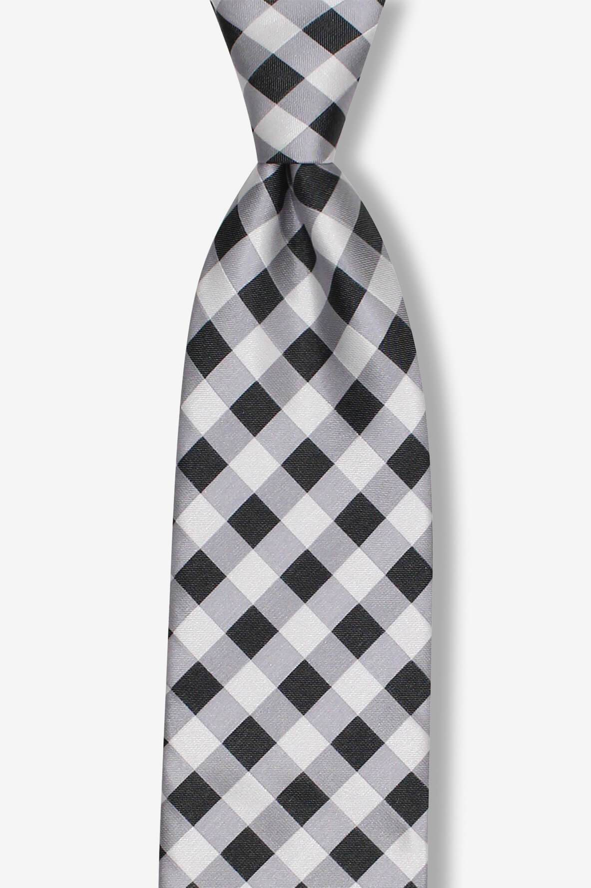 Black and White Picnic Patterned Pre-tied Tie, Tie, GoTie