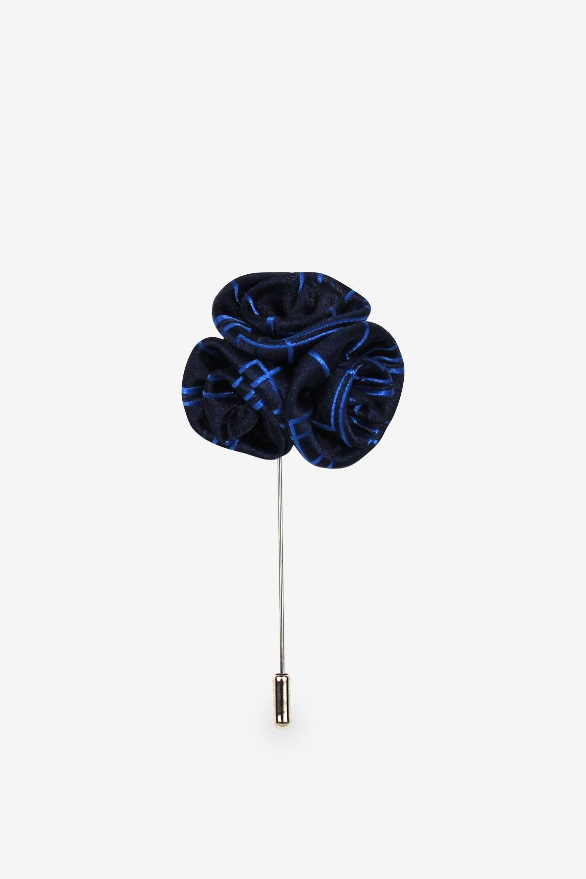 Black & Blue Flower Lapel Pin