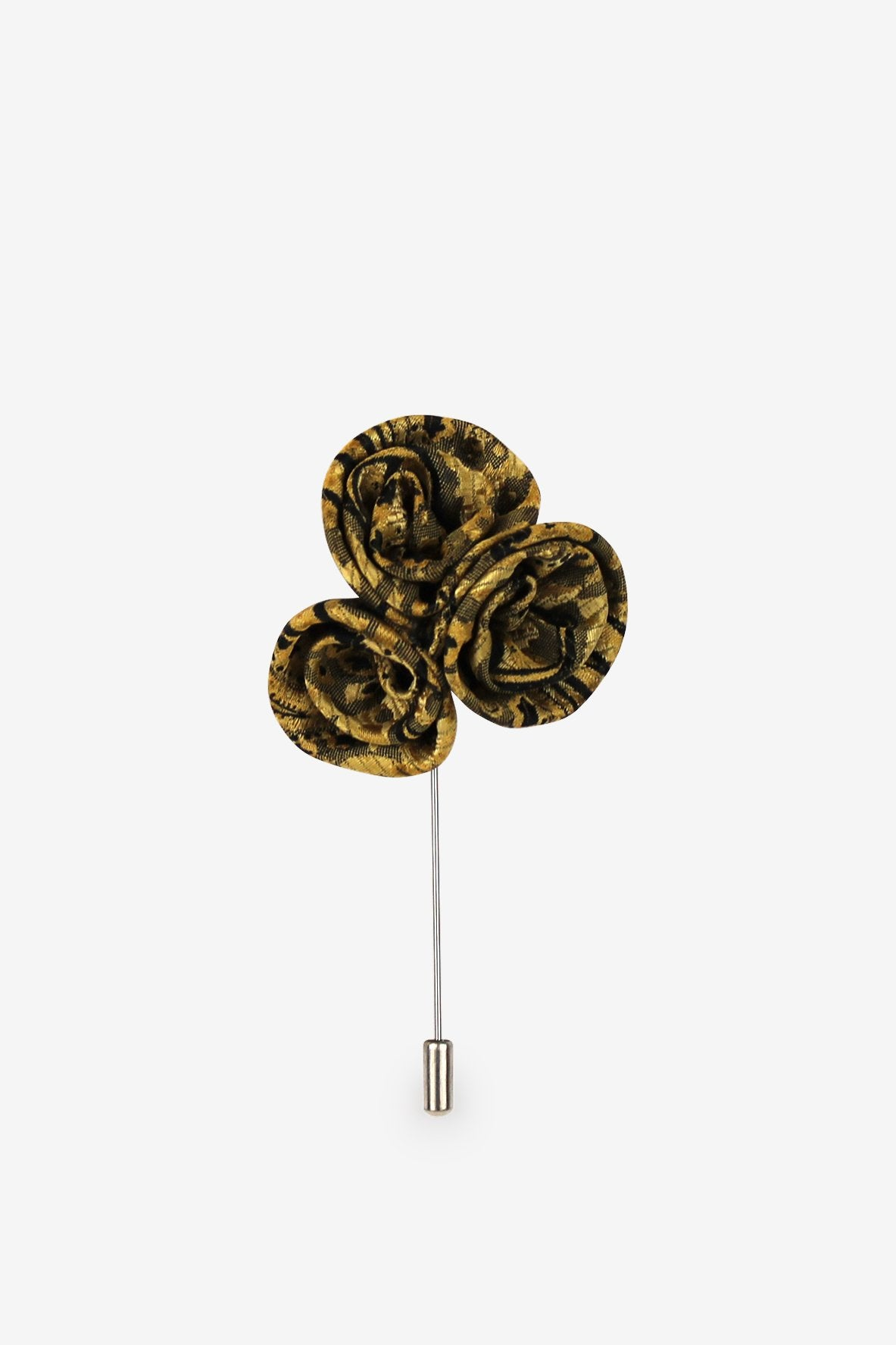 Black & Gold Bouquet Flower Lapel Pin