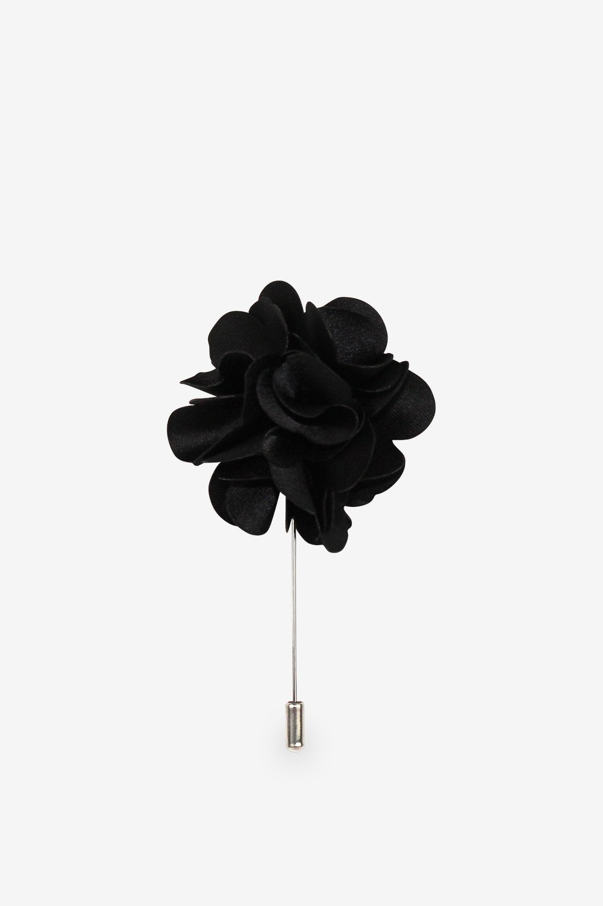 Black Hearts Ball Flower Lapel Pin