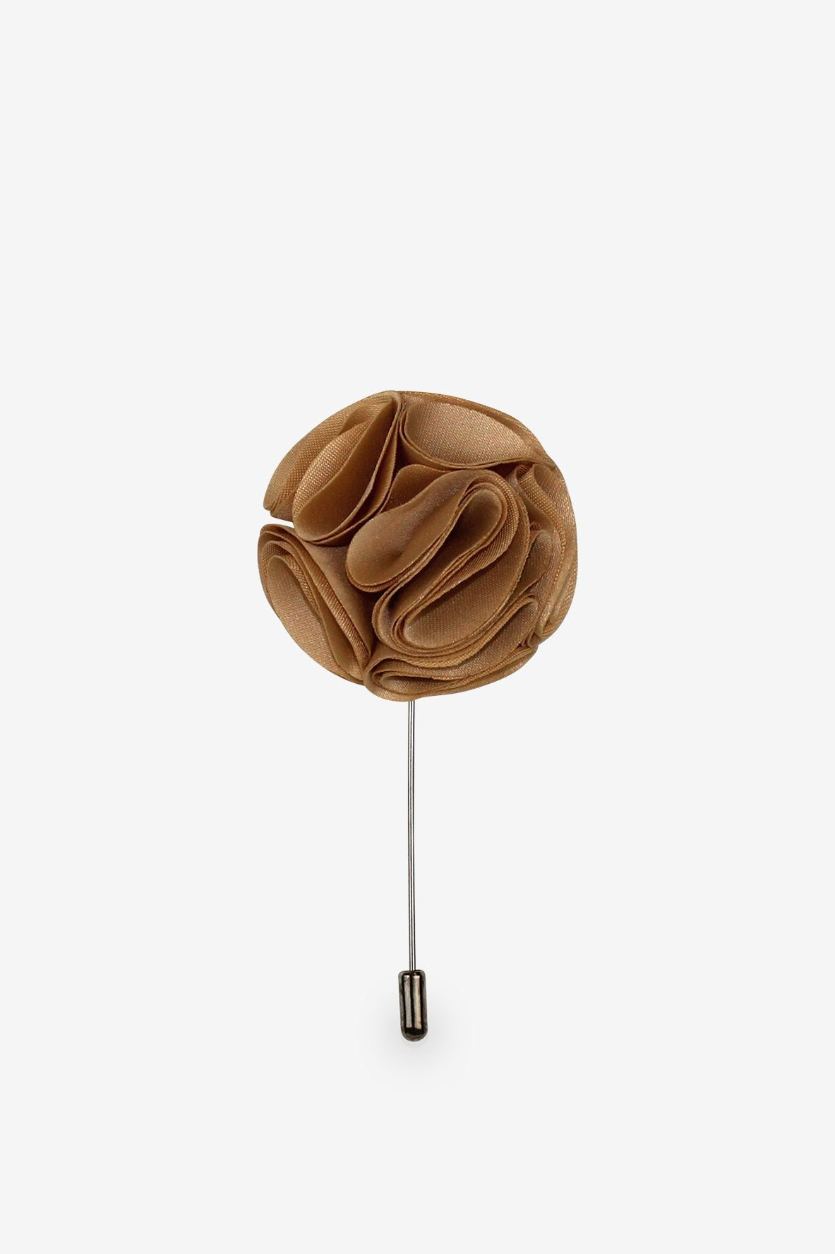 Blooming Bronze Flower Lapel Pin