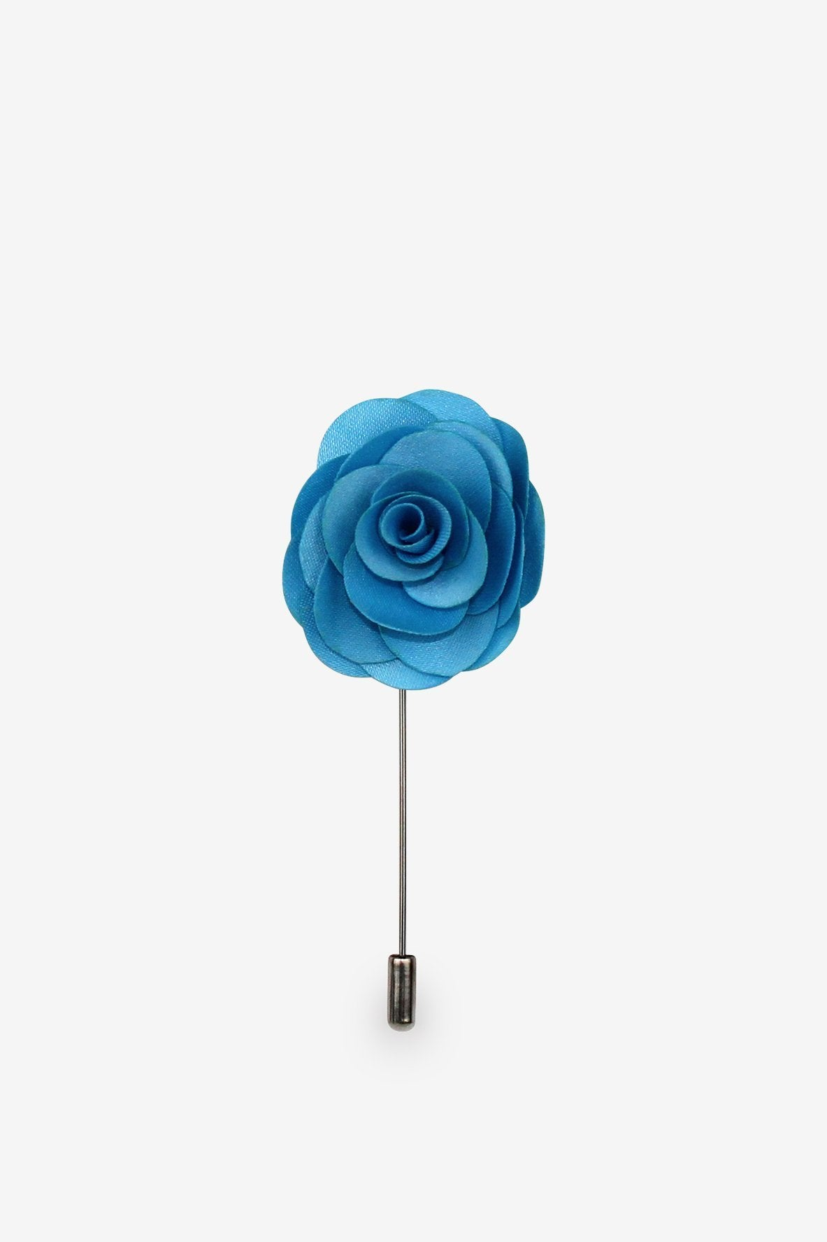 Blue Crystal Flower Lapel Pin