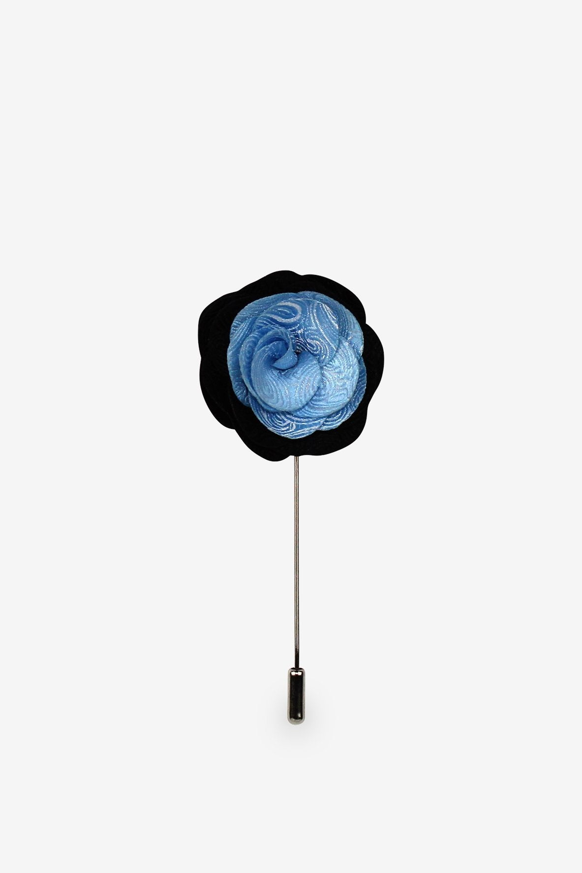 Blue Meets Black Flower Lapel Pin