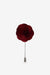 Burgundy Red Flower Lapel Pin