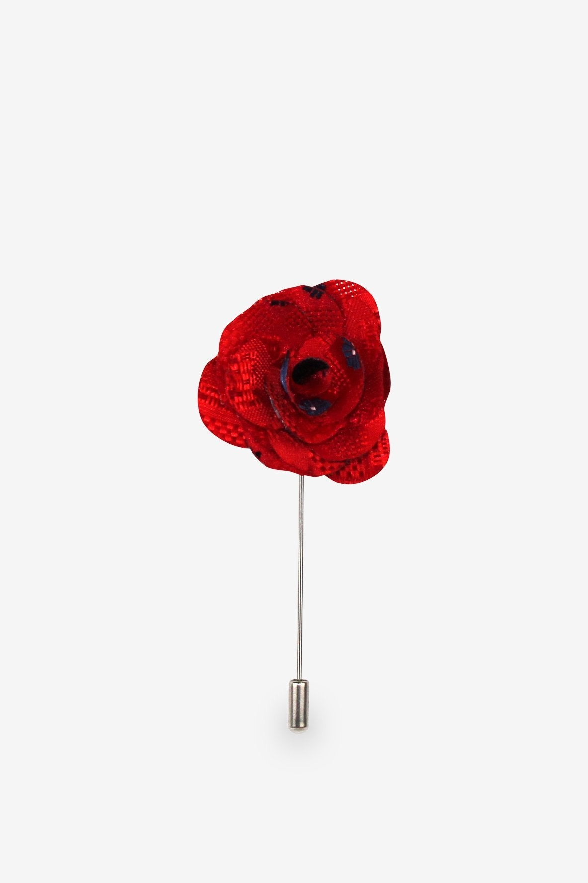 Classically Cool Red Flower Lapel Pin