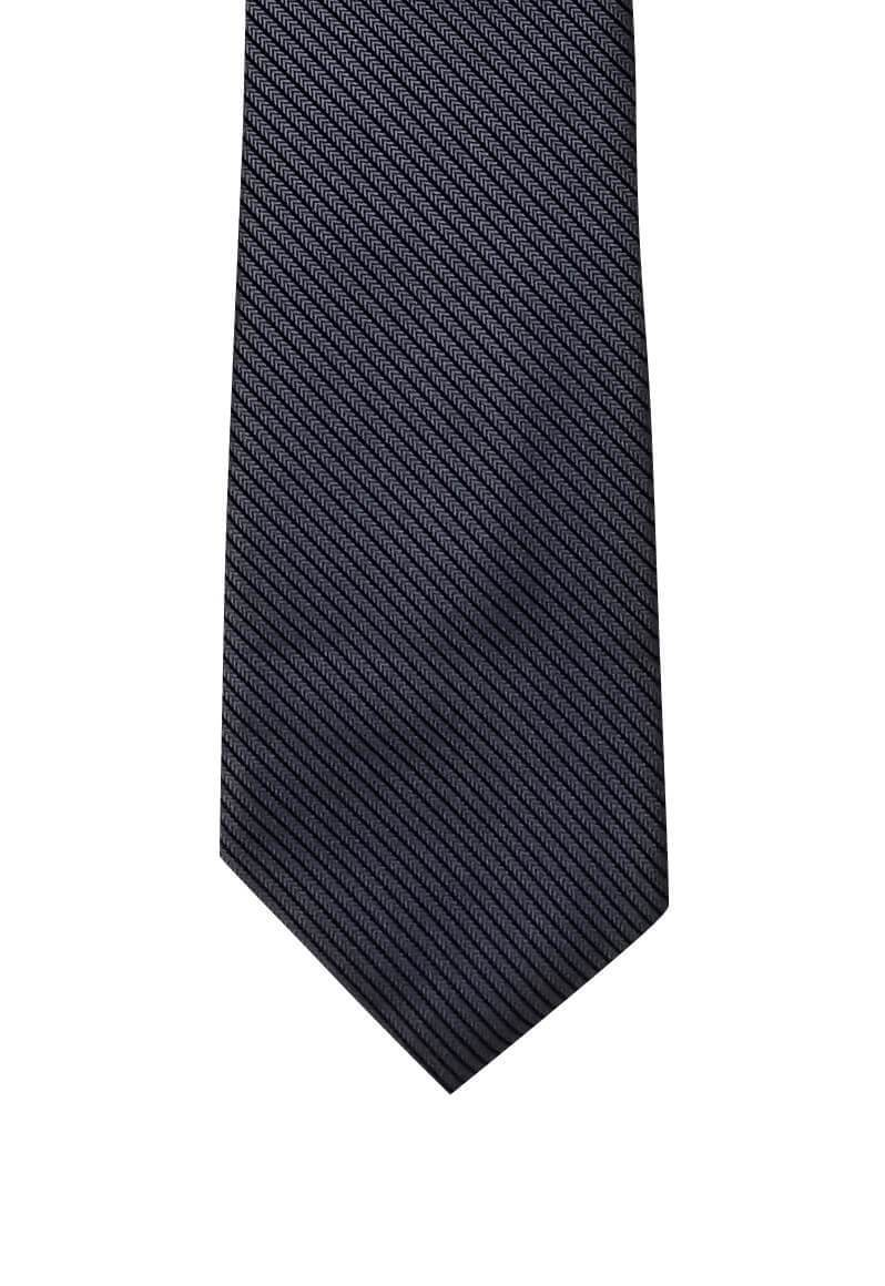 Dark Gray Black Thin Striped Skinny Pre-tied Tie, Tie, GoTie