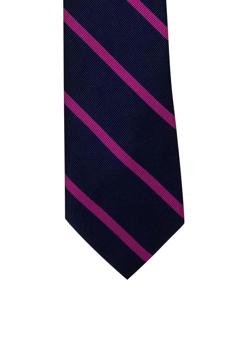 Dark Purple Light Purple Striped Skinny Pre-tied Tie, Tie, GoTie