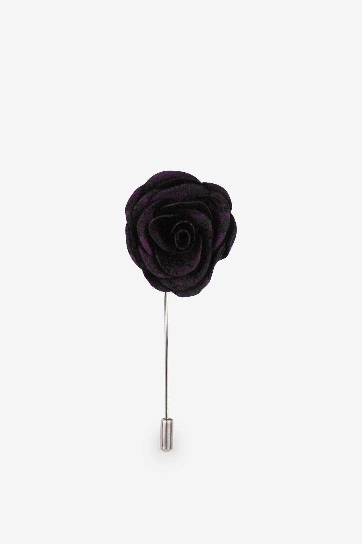 Finest Black and Purple Flower Lapel Pin