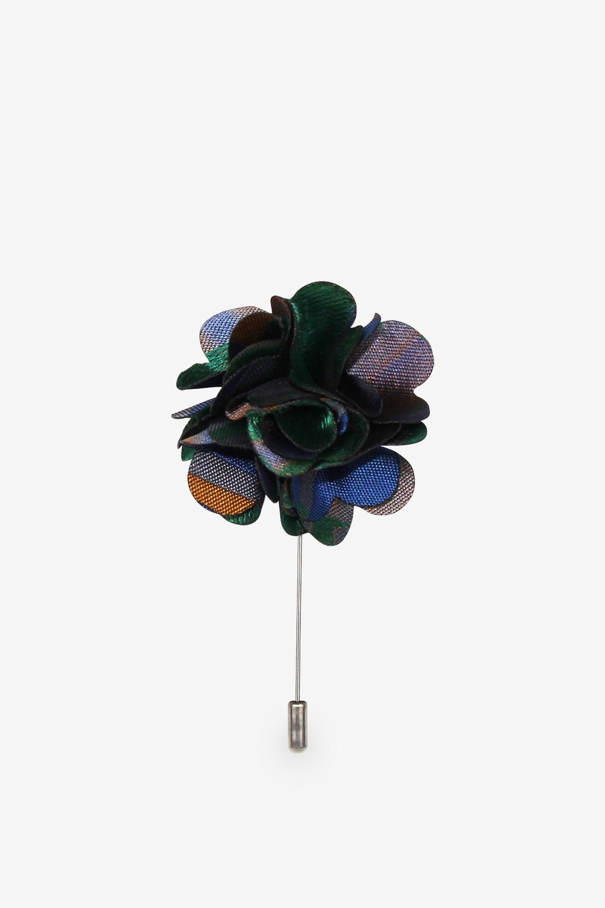 Green Envy Flower Lapel Pin